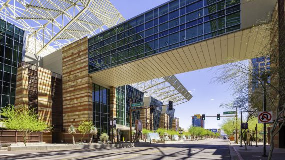 Sky Bridge over Canyon on Third at Phoenix Convention Center
